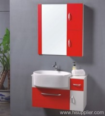 Red PVC Bathroom Vanity