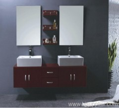 double sink oak bathroom cabinet
