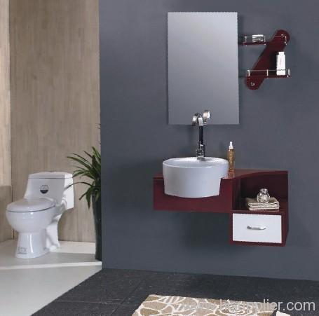 oak wood bathroom furnitures