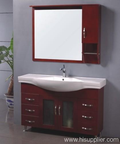 classic oak wood bathroom cabinet