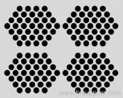 Hexagonal Decorative Perforated metal Meshes