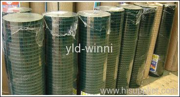 green pvc coated welded wire mesh rolls