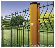 Anti theft Columns PVC Coated Fences