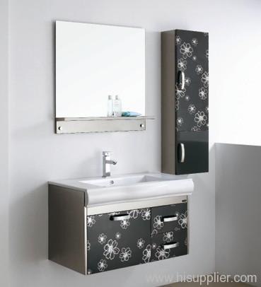 stainless bathroom vanity