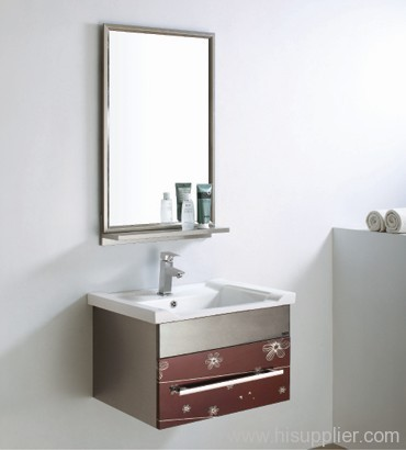 modern stainless steel bathroom cabinet
