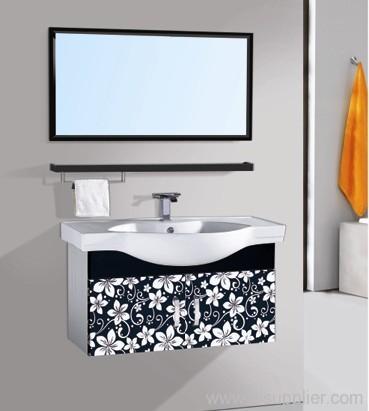 Elegant Stainless Steel Bathroom Vanity