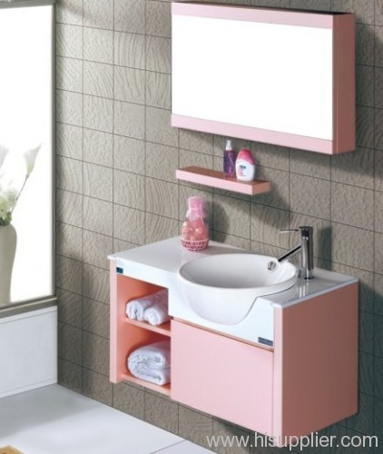 Pink Wood Bathroom Vanity