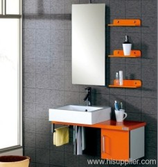 Orange Bathroom Vanity