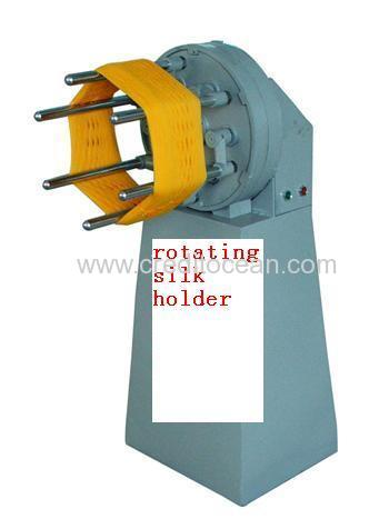 Rotating silk holder parts