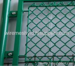 green coated chain link fence