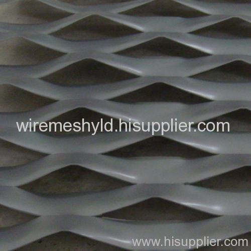 pvc coated big hole aluminum expanded metal meshes