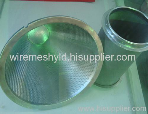 round hole perforated metal mesh filters