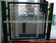 deep green pvc coated chain link fences