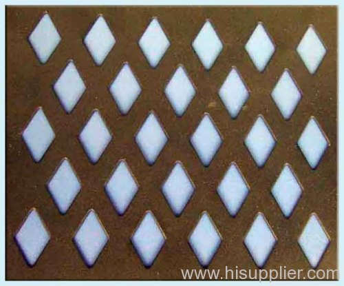 Diamond Hole Perforated Plate Mesh