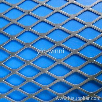 flattened and galvanized expanded metal mesh