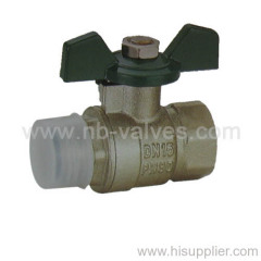 FM Brass Ball Valve Butterfly Handle