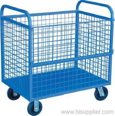 PVC coated welded shopping baskets
