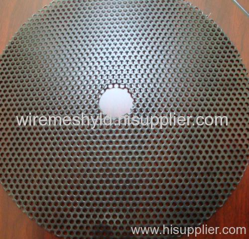black anodizing perforated metal meshes