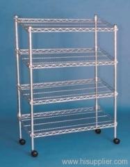 galvanized wire mesh shelvings