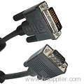 VGA 15Pin Male to DVI 24+5 Pin Male Cable