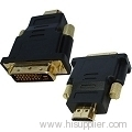 HDMI 19Pin Male to DVI 24+1 Pin Male adapter