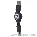 USB AM to printer Retractable cable