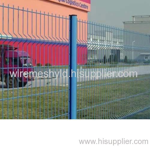 blue pvc coated welded wire mesh fences