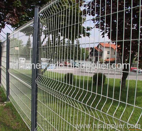 white pvc coated welded wire mesh fences