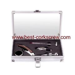 Window Aluminum box with wine accessories
