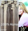 clips on human hair extension