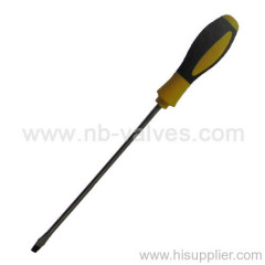 Rubber handle Slotted Screwdriver