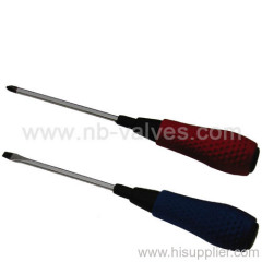 Massage handle stainless steel screwdriver