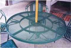 PE coated expanded metal decorative-tables