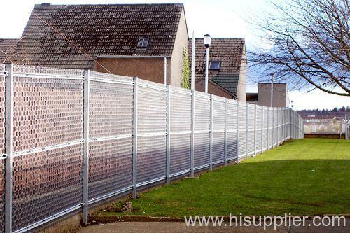 hexagonal expanded metal neighborhood fencing
