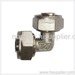 nickel-plated brass elbow fitting