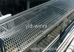 walkway with expanded metals