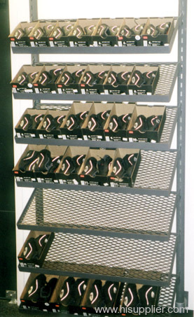 PVC coated metal mesh shoe racks