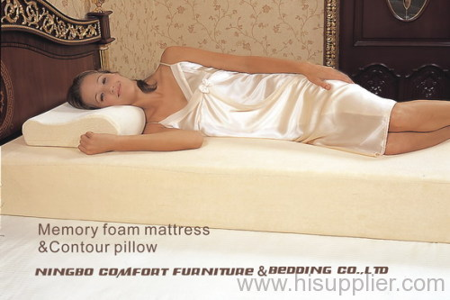Memory foam mattress with velour cover