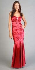 elegant evening dresses red