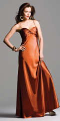 evening dress gold