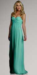 formal evening dress green