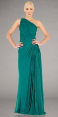 green evening dress designer