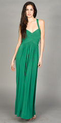 green evening dress design