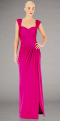 halter evening dress pink