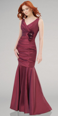 ladies evening dress red