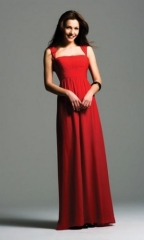 ladies evening dresses red