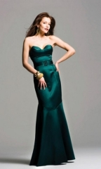 ladies evening dresses green