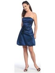 Blue Prom Dress Short