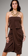 brown ball gown