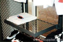 expanded metal mesh retail shelving